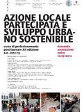 Planum News 07.2012 </br> Azione Locale Partecipata e Sviluppo Urbano Sostenibile, Corso di Perfezionamento