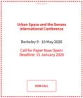 Urban Space and the Senses | CfP 2020 Locandina provvisoria