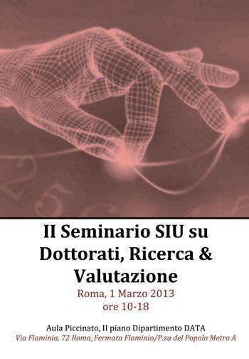 II Seminario Nazionale SIU | Roma 01.03.2013