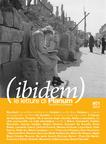 (ibidem) le letture di Planum. The Journal of Urbanism n.1/2013 © </br> Cover by N. Vazzoler