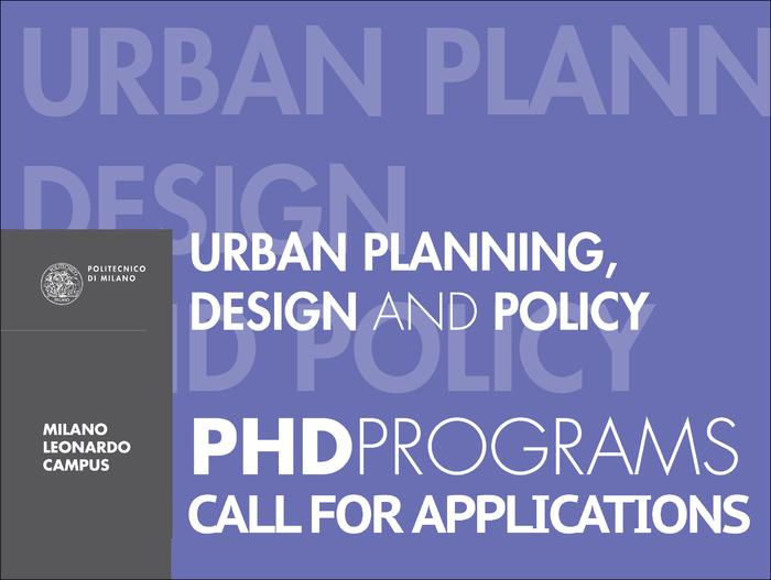 Phd Programme In Urban Planning Design And Policy Updp Politecnico Di Milano Phd School 31