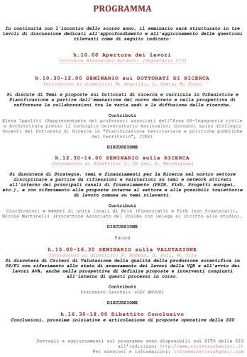 II Seminario Annuale SIU | Roma, 1 Marzo 2013