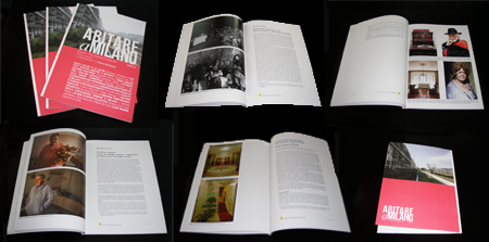 Shots of Abitare a Milano printed issue