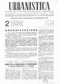 Urbanistica First Page n.1-2/1948