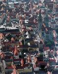 "The old town of Regensburg during ""The Festival of the Bavarians"" in 2000"